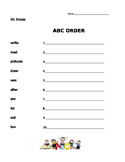 Dr. Seuss - Journeys 1st Grade- ABC Order