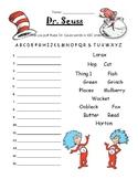 Dr. Seuss ABC Order