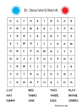 photograph regarding Dr Seuss Word Search Printable named Dr. Seuss Functions initially, minute, 3rd quality