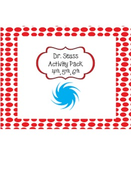 Dr. Seuss Activities fourth, fifth, sixth grade