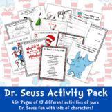 Dr. Seuss Activity Pack   Dr. Seuss Characters   49 Pages of Dr. Seuss Fun!