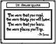 Dr. Seuss Activity Seussical Quotes