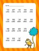 Dr. Seuss Addition and Subtraction