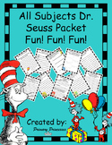 Dr. Seuss All Subject Packet For 1st, 2nd, and 3rd graders