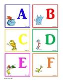 Dr. Seuss Alphabet Flash Cards