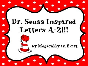 Dr. Seuss Alphabet Letters {A-Z} - Cat in the Hat Inspired!