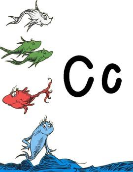Dr. Seuss Alphabet Line Posters