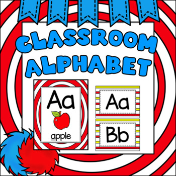 Alphabet Posters Whimsical (Red and White)