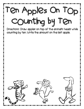 Dr. Seuss Apples on Top Counting by Ten