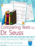 Dr. Seuss Author Study {NO PREP Writing Activities & Game}