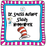 Dr. Seuss Author Study Homework Pack