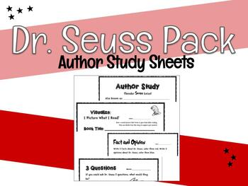 Dr. Seuss Author Study Package