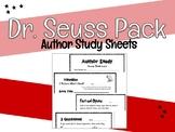 Dr. Seuss Author Study Package