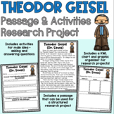 Dr. Seuss Author Study Passage Activities Research Project READ ACROSS AMERICA