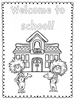 Dr. Seuss Back to School First Day of School Activities