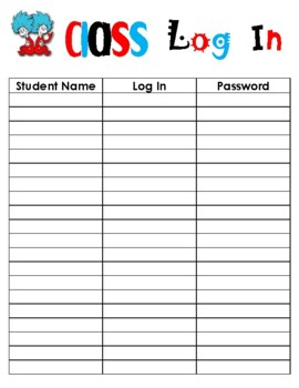 Dr. Seuss Back to School Forms and Checklist