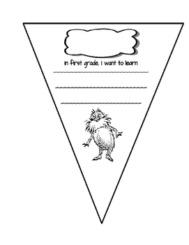 Dr. Seuss Back to School Pennant/Banner