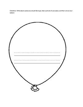 graphic regarding Balloon Template Printable identified as Balloon Template Worksheets Instruction Supplies TpT
