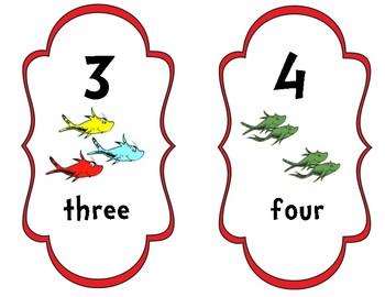 Dr. Seuss Basic Number Cards 1-10