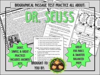 Dr. Seuss-Biographical Passage Practice
