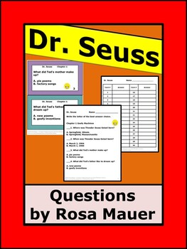 Who Was Dr. Seuss Biography Author Study Task Cards