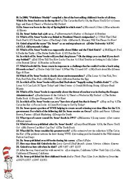 Dr. Seuss Biography & Quiz