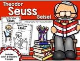 Theodor Seuss Geisel {A Biography} Reader for First Grade & Kindergarten