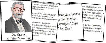 Dr. Seuss Biography Report (K-8th)
