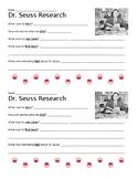 Dr. Seuss Biography Research