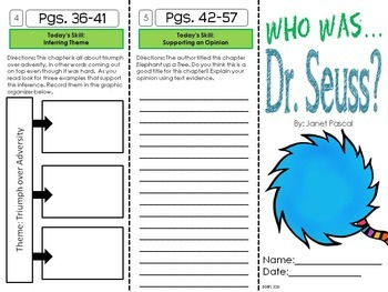 """Who was Theodore """"Seuss"""" Geisel? A Biography Trifold Unit"""