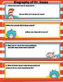 Dr. Seuss Biography, reading comprehension