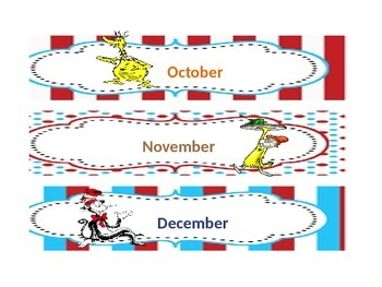 Dr Seuss Birthday Chart