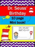 Dr. Seuss' Birthday- March 2nd- Mini Book
