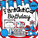 Class Birthday Set- Whimsical - Editable