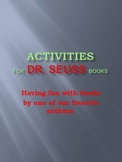Activities for Dr. Seuss Books - new title