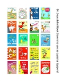 Dr. Seuss Book Cover Cupcake Toppers!