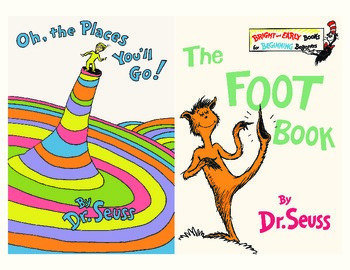This is a graphic of Clever Printable Dr Seuss Books