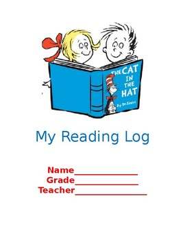 Dr. Seuss Book Log For K-2