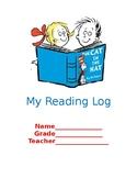 dr seuss reading log teaching resources teachers pay