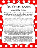 Dr. Seuss Book Matching Game