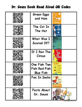 Dr. Seuss Book QR Codes