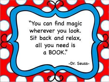 Dr. Seuss Book Quote