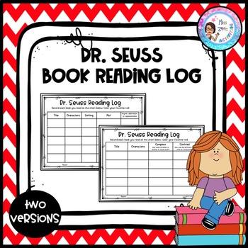 Dr. Seuss Book Reading Log