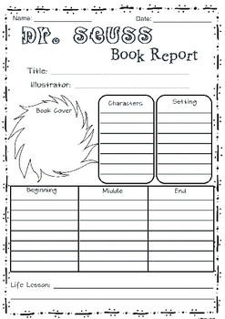 Dr. Seuss Book Report
