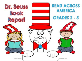 Dr. Seuss Book Report Read Across America March Activity
