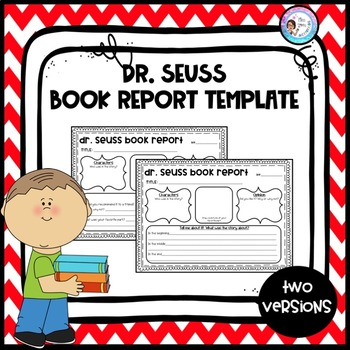 Dr. Seuss Book Report Template by Miss Zees Activities | TpT