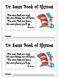 Dr Seuss Book of Rhymes