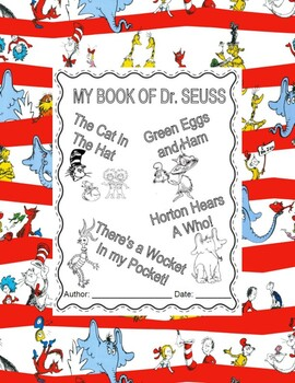 Dr. Seuss Booklet -The cat in the Hat, Green eggs and jam & 2 more books