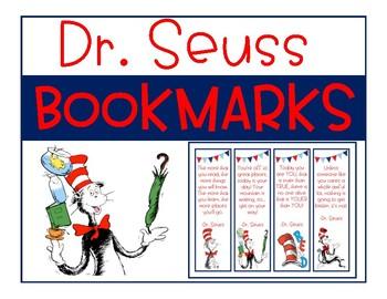 Dr. Seuss Bookmarks - Freebie!