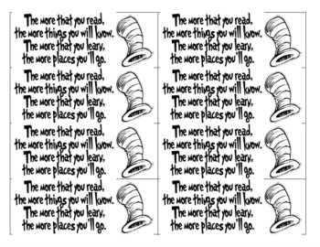 image regarding Dr Seuss Printable Bookmarks titled Dr Seuss Bookmarks Worksheets Training Elements TpT